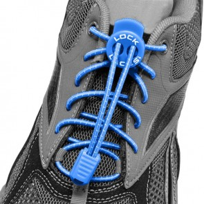 lock laces blauw triathlon veters