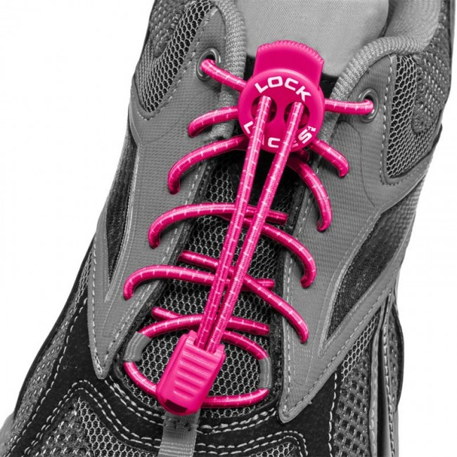 lock laces roze triathlon veters